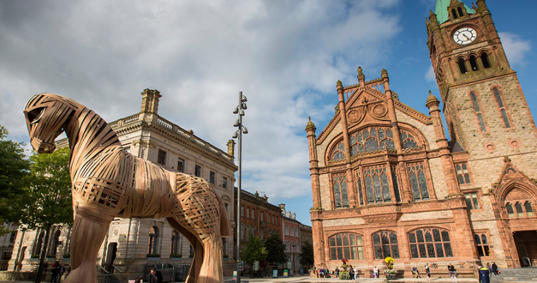 Derry's Guildhall Square Taken Over By Trojan Horse