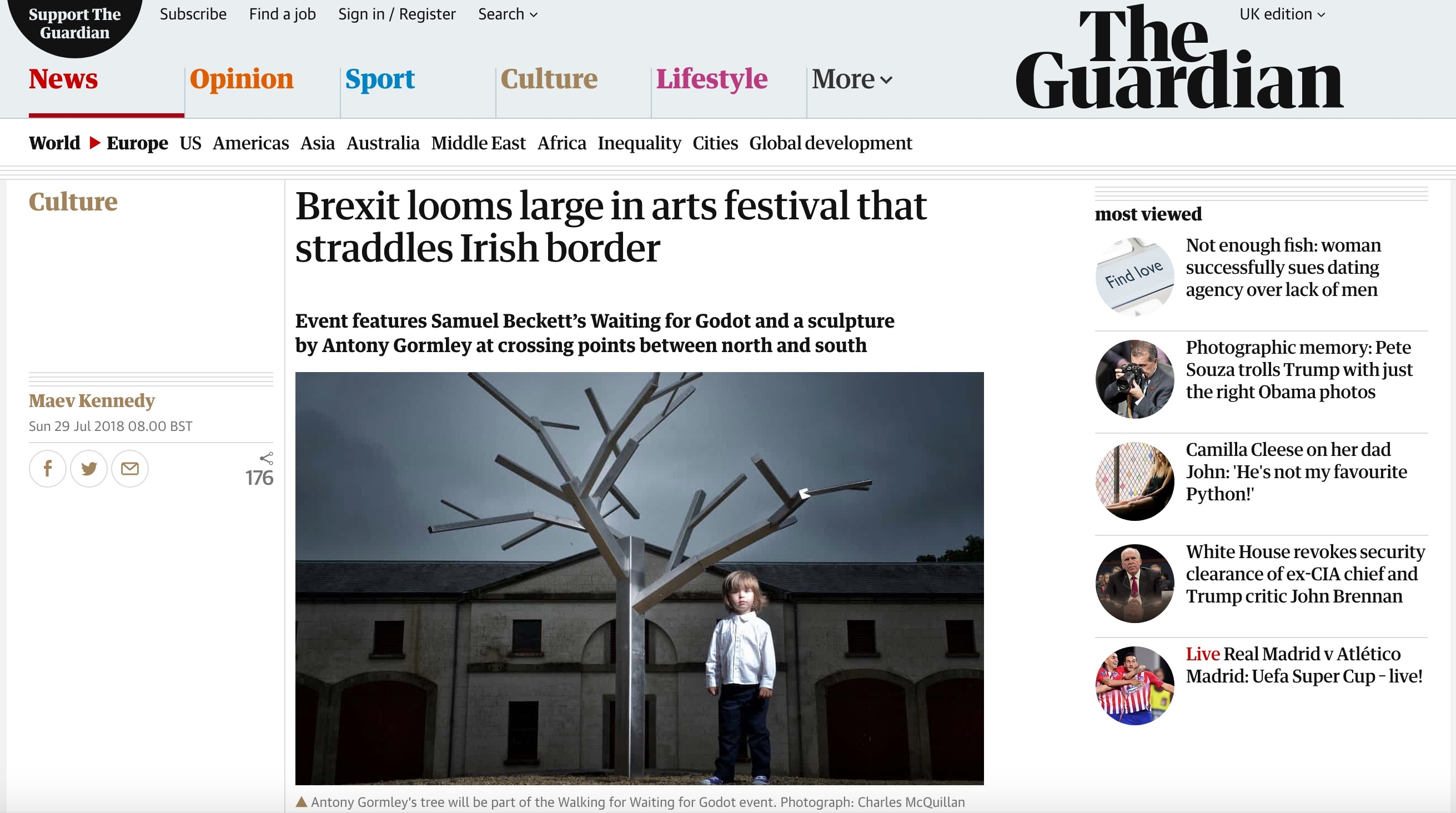 The Guardian: Brexit looms large in arts festival that straddles Irish border