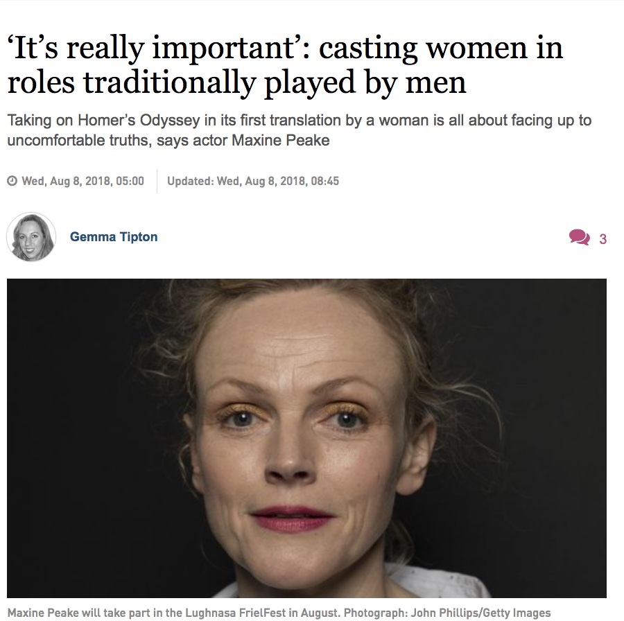 The Irish Times: 'It's really important': casting women in roles traditionally played by men