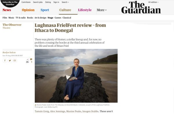 The Observer : Lughnasa FrielFest review – from Ithaca to Donegal