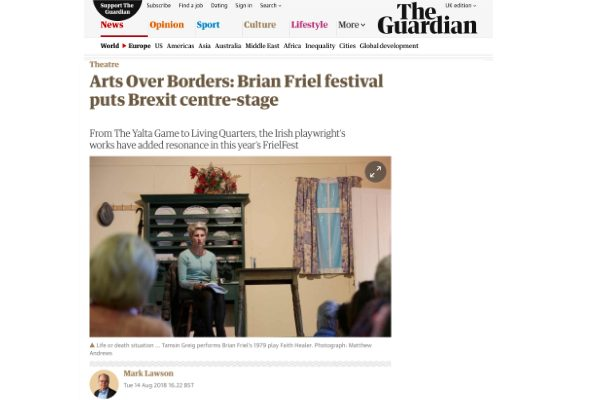 The Guardian : Arts Over Borders: Brian Friel festival puts Brexit centre-stage