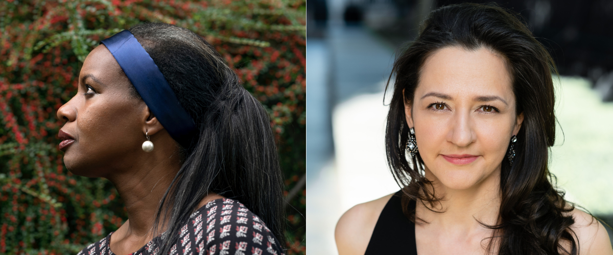 [left] Ruby Philogene, [right] Maya Irgalina