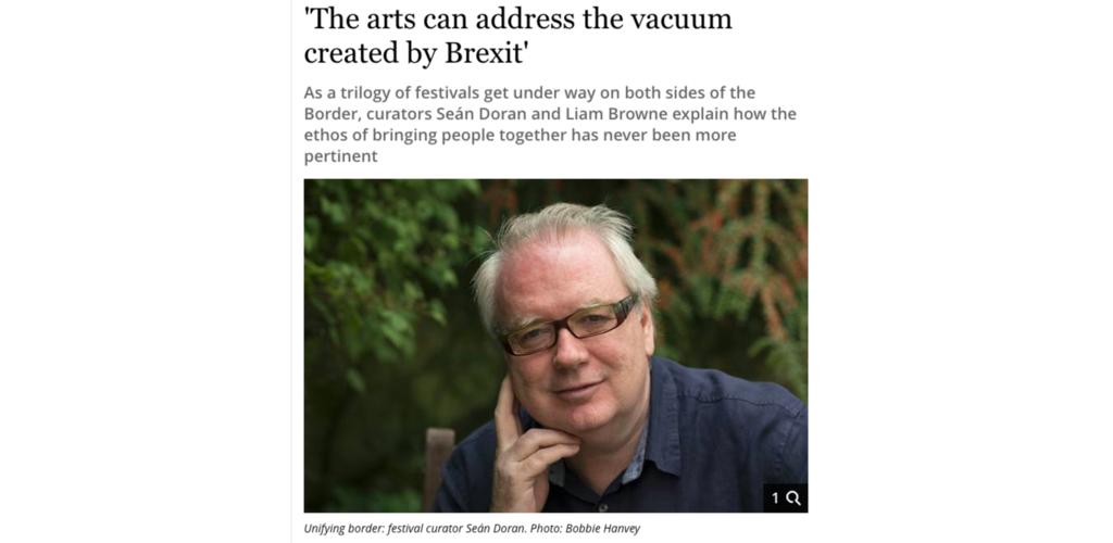 The Irish Independent: How The Arts Unite Us As One
