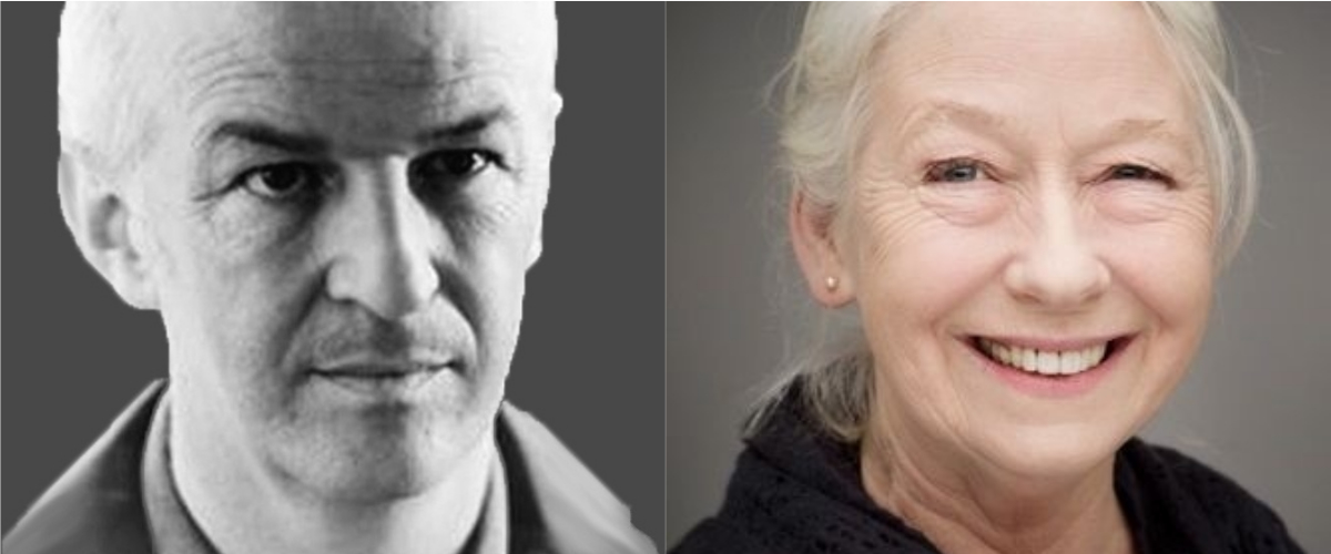 [left] Sean McGinley, [right] Marie Mullen